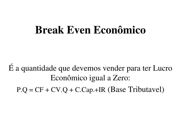 Break Even Econômico
