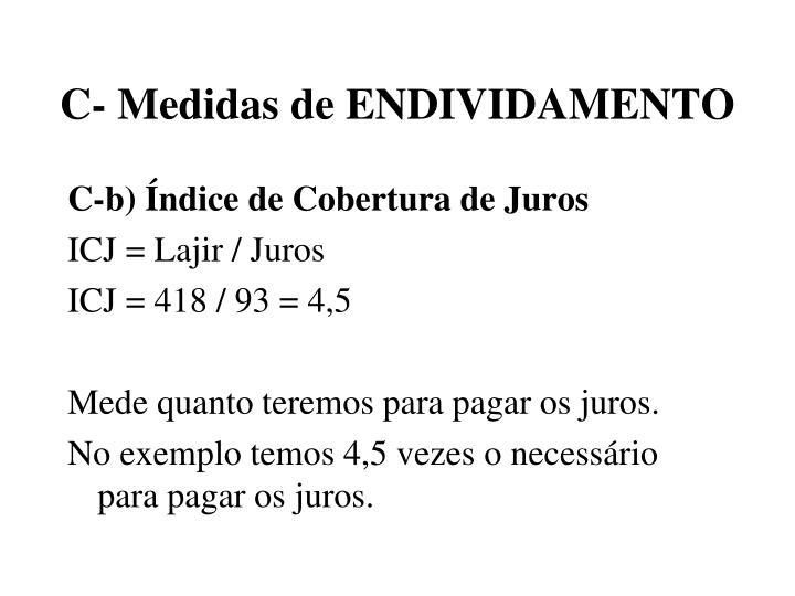 C- Medidas de ENDIVIDAMENTO