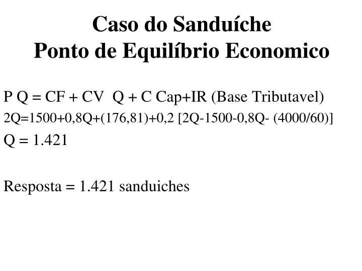 Caso do Sanduíche