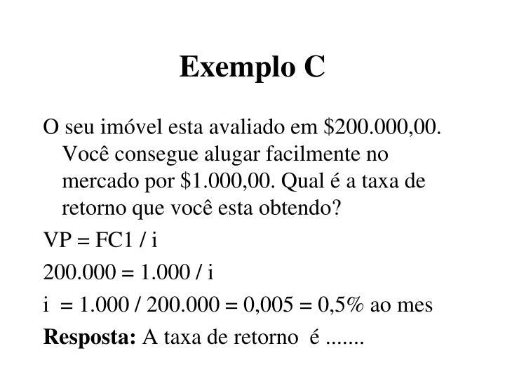 Exemplo C