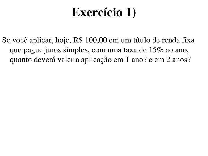 Exercício 1)