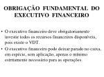 obriga o fundamental do executivo financeiro