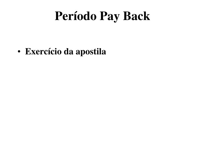 Período Pay Back