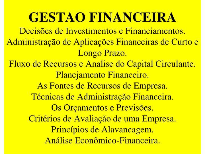 GESTAO FINANCEIRA