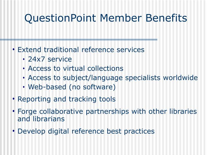QuestionPoint Member Benefits