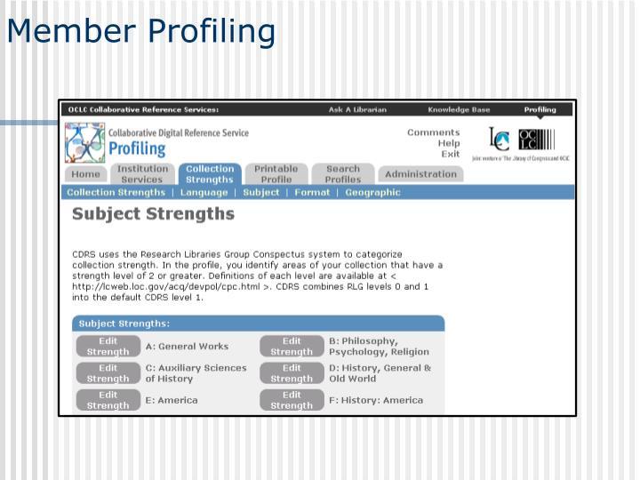 Member Profiling
