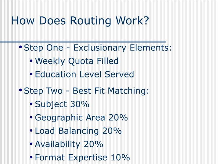 How Does Routing Work?