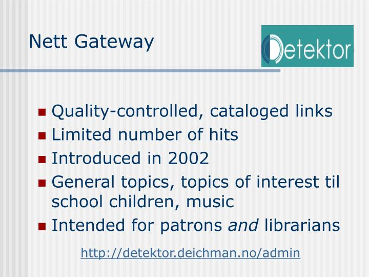 Nett Gateway