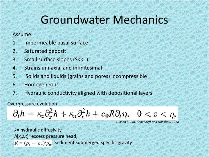 Groundwater Mechanics