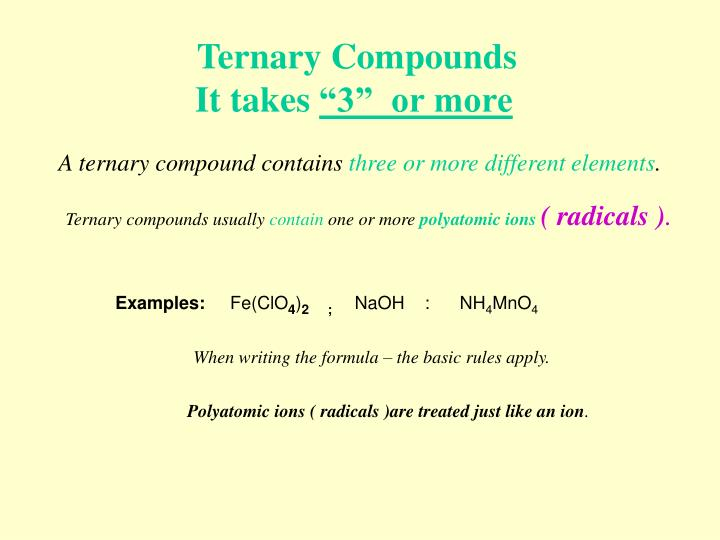 Ternary Compounds