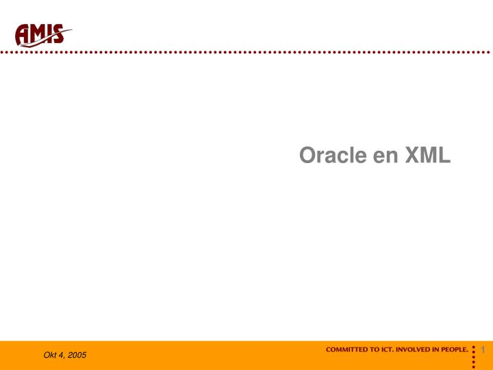 Oracle en xml