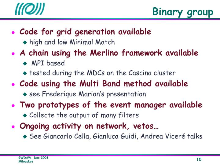 Binary group