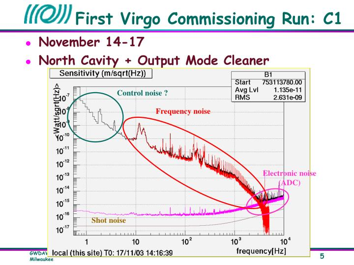 First Virgo Commissioning Run: C1