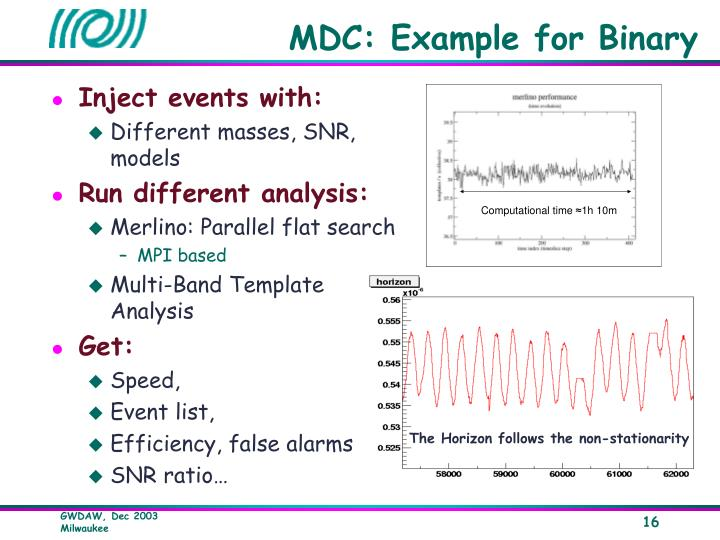 MDC: Example for Binary