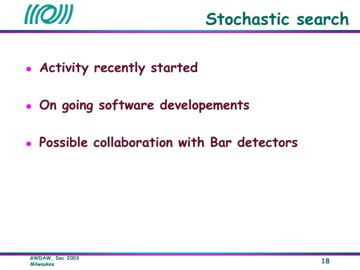 Stochastic search