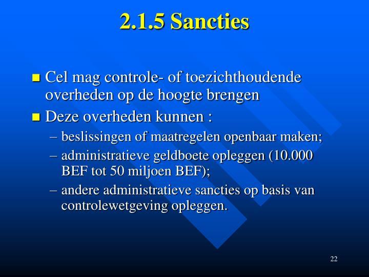 2.1.5 Sancties
