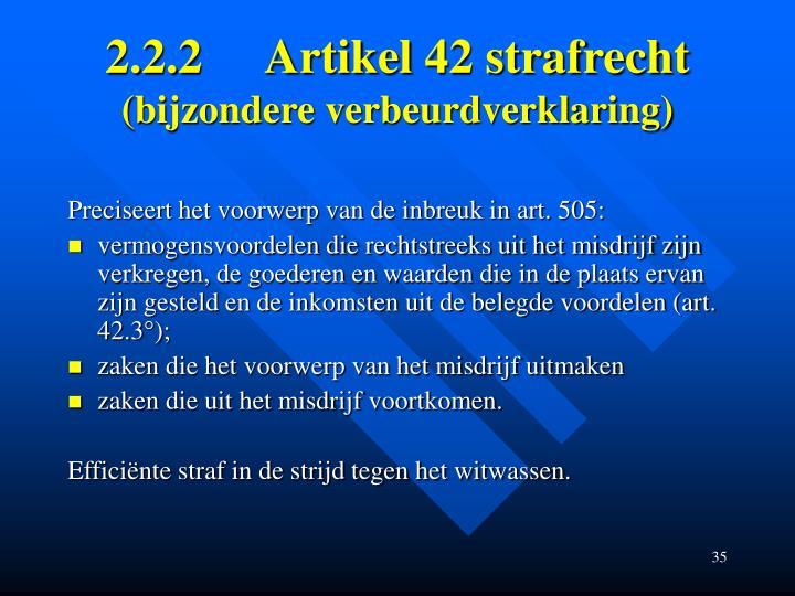 2.2.2Artikel 42 strafrecht