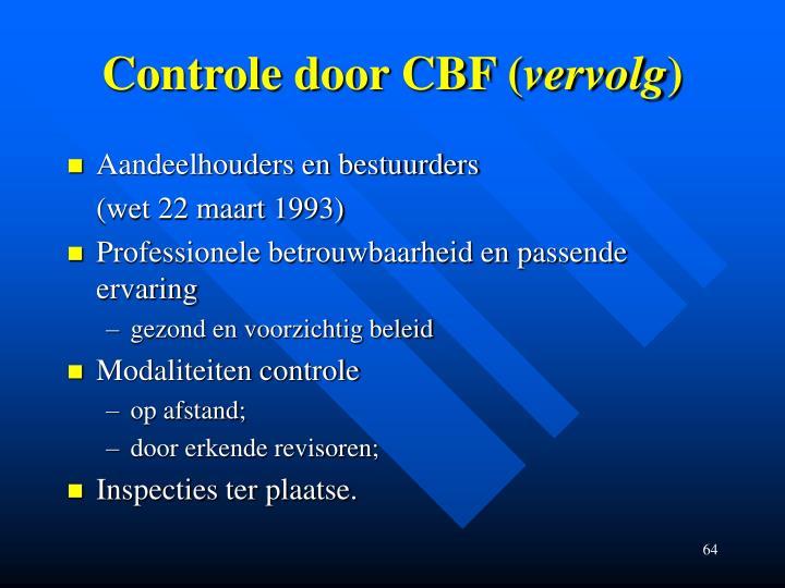 Controle door CBF