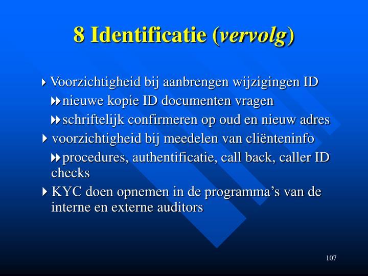 8 Identificatie (