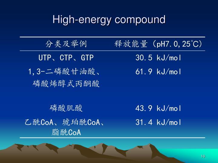 High-energy compound