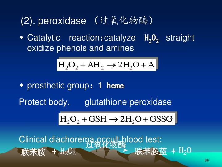 (2). peroxidase