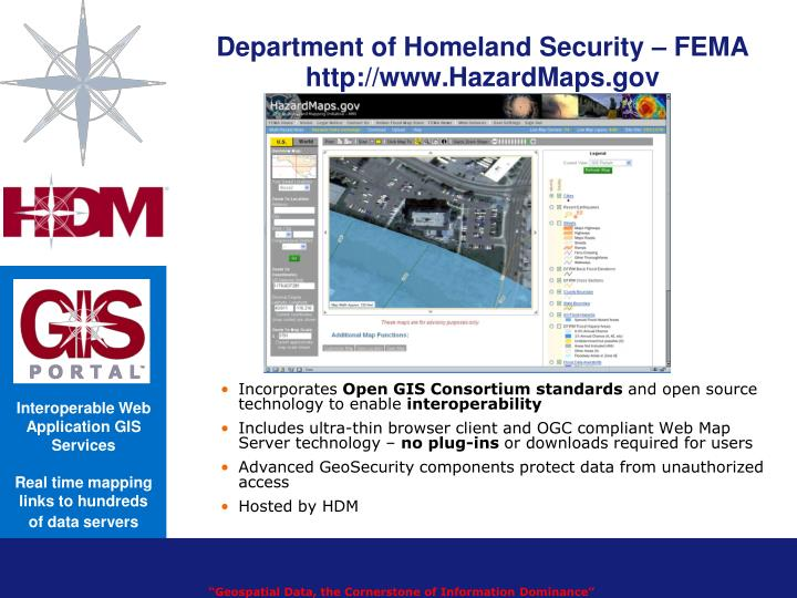 Department of homeland security fema http www hazardmaps gov
