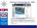 department of homeland security fema http www hazardmaps gov