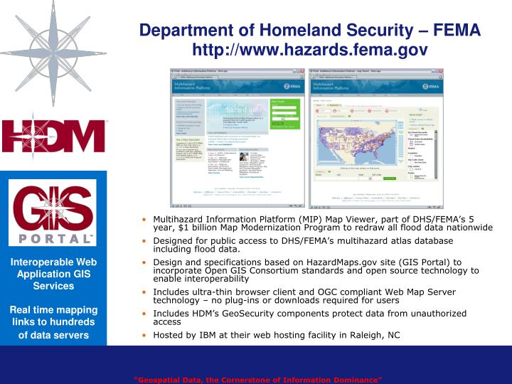 Department of Homeland Security – FEMA