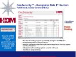 geosecurity geospatial data protection role based access control rbac
