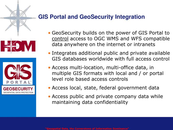 GIS Portal and GeoSecurity Integration