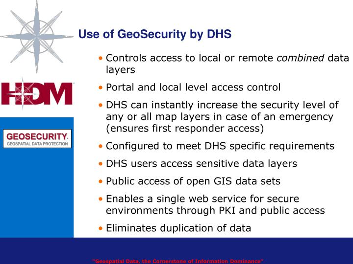 Use of GeoSecurity by DHS