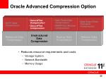 oracle advanced compression option2