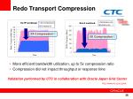 redo transport compression