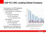 sap r 3 bw leading global company