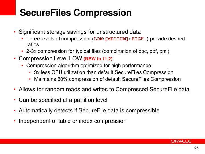 SecureFiles Compression