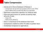 table compression