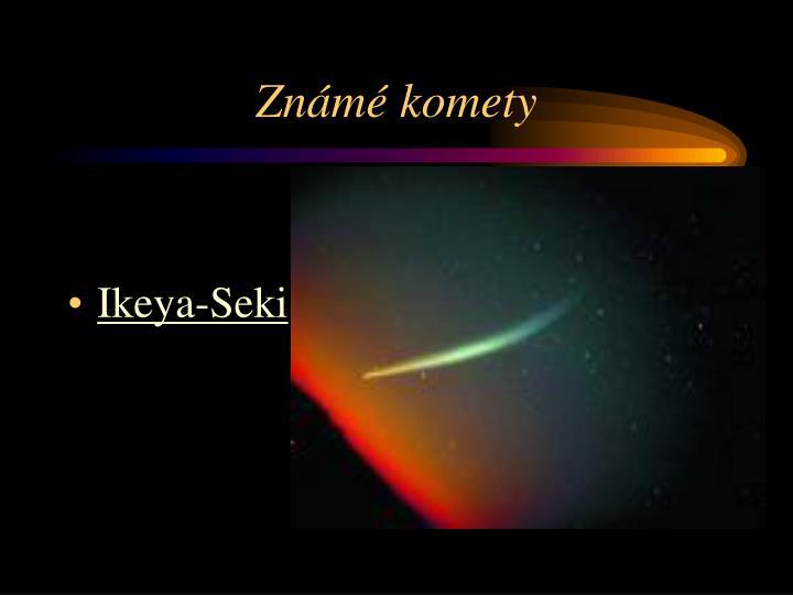Známé komety