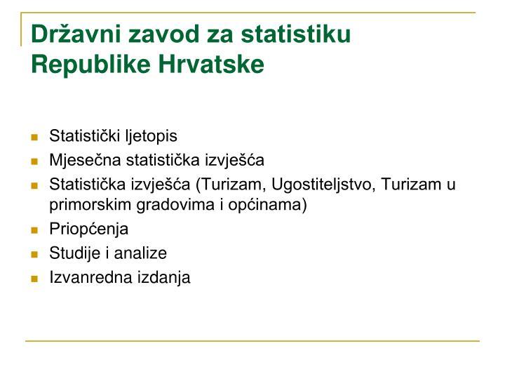 Državni zavod za statistiku Republike Hrvatske