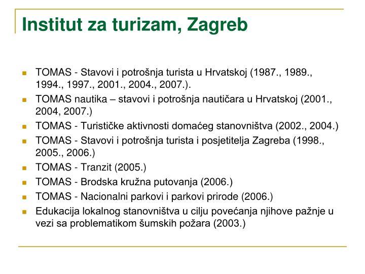 Institut za turizam, Zagreb