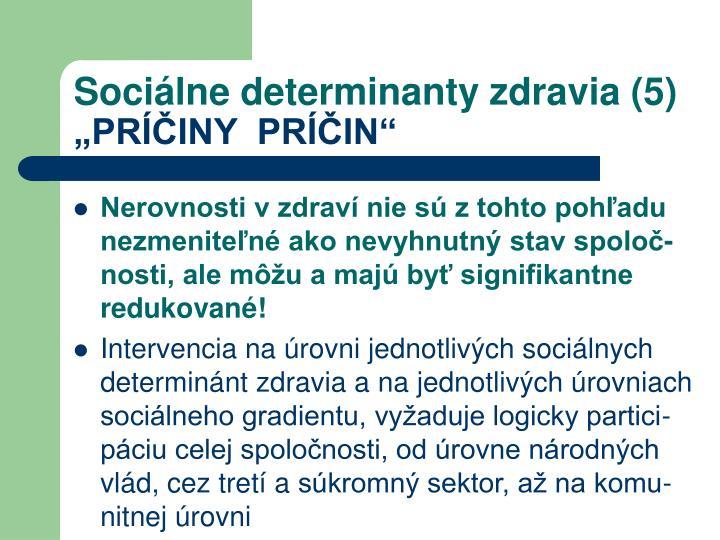 Sociálne determinanty zdravia (5)