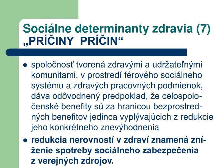 Sociálne determinanty zdravia (7)