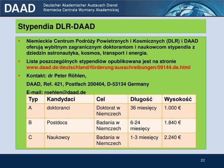 Stypendia DLR-DAAD