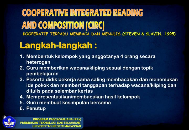 COOPERATIVE INTEGRATED READING