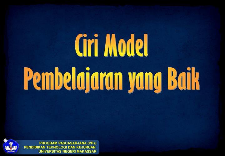 Ciri Model