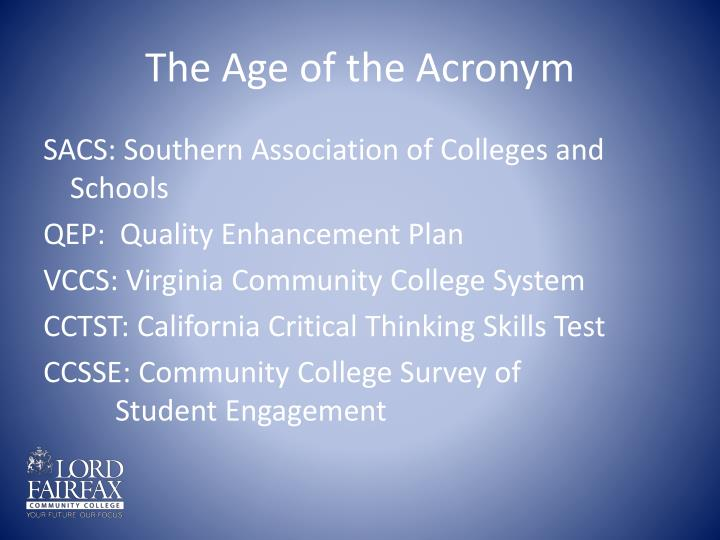 The Age of the Acronym