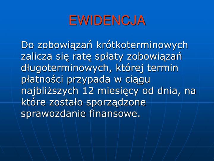EWIDENCJA