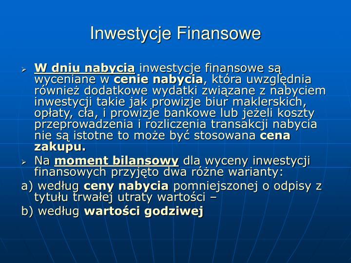 Inwestycje Finansowe