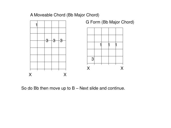 A Moveable Chord (Bb Major Chord)