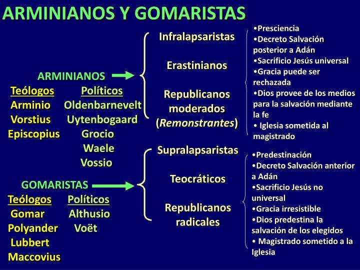 ARMINIANOS Y GOMARISTAS