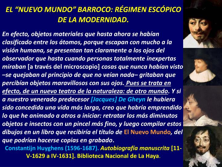 """EL """"NUEVO MUNDO"""" BARROCO: RÉGIMEN ESCÓPICO DE LA MODERNIDAD"""